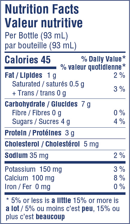 Stonyfield Organic Kids Drinkable Yogourt Strawberry Banana - Nutrition Facts