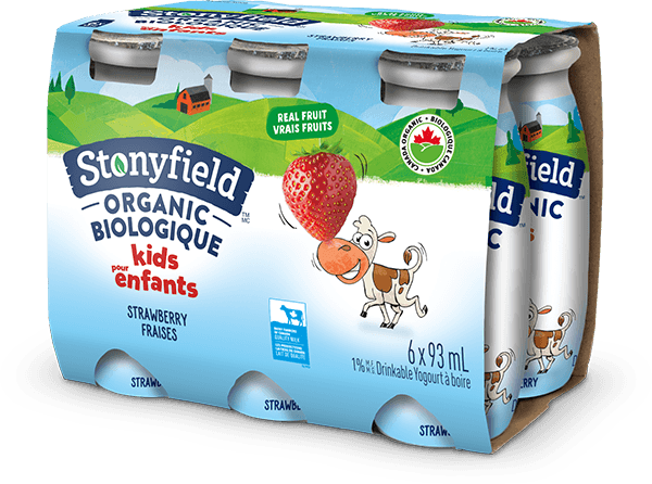 Stonyfield Organic Kids Drinkable Yogourt Strawberry