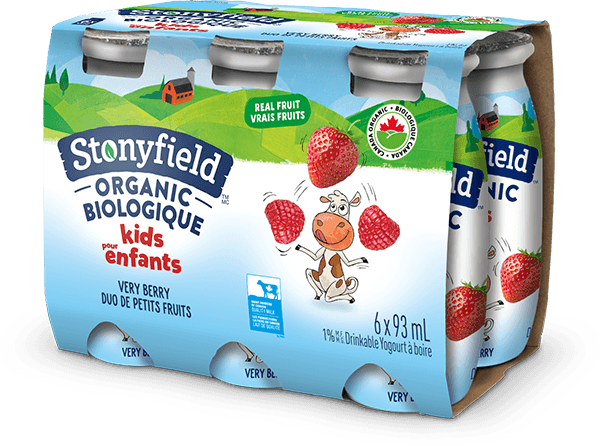 Stonyfield Organic Kids Drinkable Yogourt Very Berry