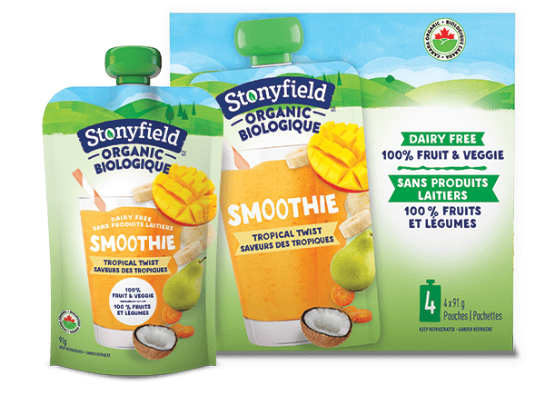 Stonyfield Organic Fruit & Veggie Pouch Tropical Twist Smoothie